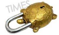Brass Tortoise Pad Lock