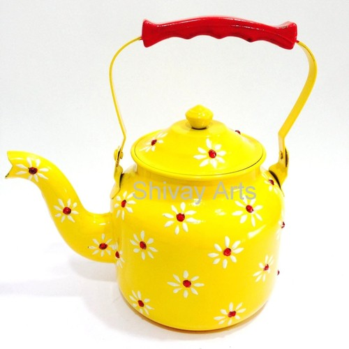 Stainless Steel Multicolored Designer Kettle Tea Pot