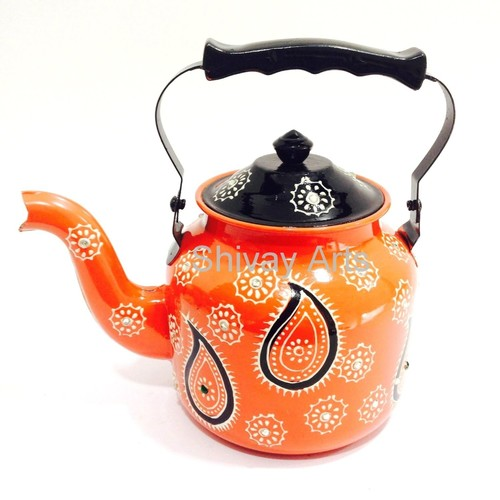 Stainless Steel Multicolored Designer Kettle Tea Pot