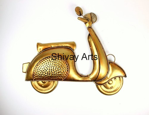 Contemporary Metal Iron Scooter Vehicle Wall Decor Wall Hanging