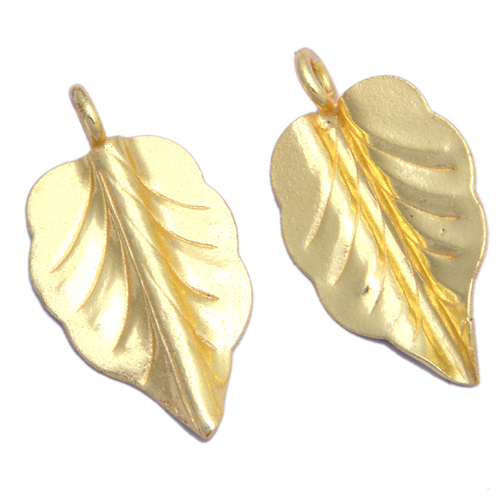 Gold Plated Leaf Pendant