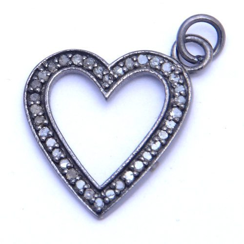 Heart Diamond Charm Pendant