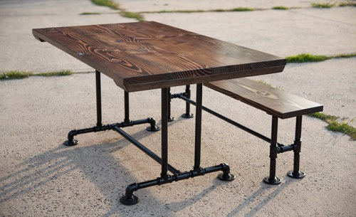 Industrial pipe bench