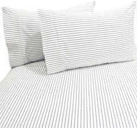 Urban Stripe Dark Blue Sheet Set Single