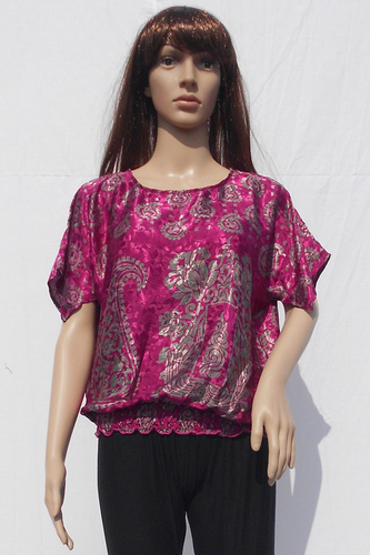 Silk Beachwear Casual Tops