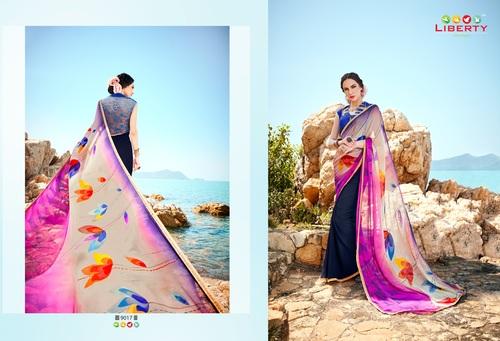 Designer Hand Printed Saree