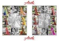 ATITHI Digital Printed Georgette Designer Sarees