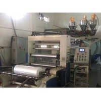 Co-extruding PE film casting machine