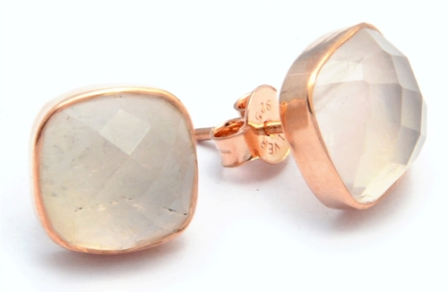 Rose Quartz Stud Earring