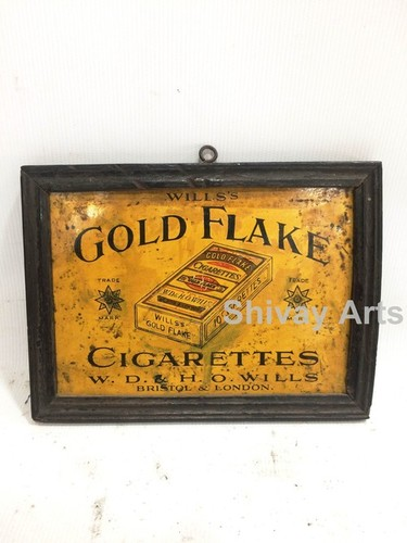 Vintage Old Gold Flake Ad Litho Tin Sign Board