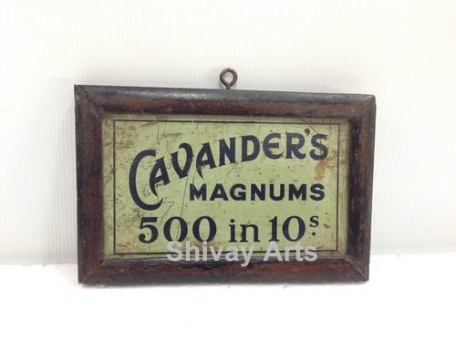 Vintage Old Cavender's Ad Litho Tin Sign Board