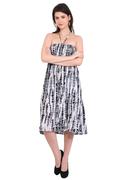 Resort Wear Dresses Rayon Tie-Dye 2 In 1 Black Dresses and Skirt