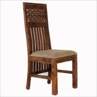 Dining Chair With Cushion Seat & Carving Back