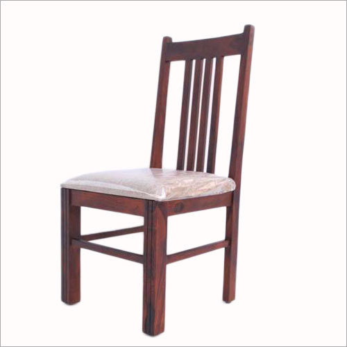 Straight Strip Design Dining Chair With  Cushion Seat