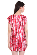 Rayon Solid Tie-Dye Casual Wear Red Dress