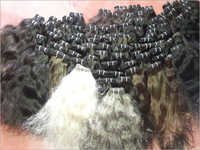 Natural Black Wefted Hair