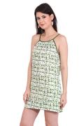 Body of water Tie-Dye Midi Olive Dresses