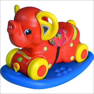 Girnar Elephant 2 In 1 Rocker (PVC)