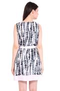 Cute Grey Tie-Dye Dress Halter Dress Beach Dresses
