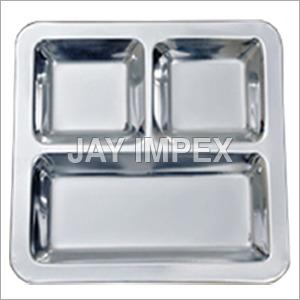 Silver 3 Bowl Plate Set