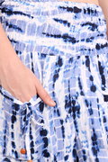 Rayon Tie-Dye Blue Color Two Pockets Party Trouser