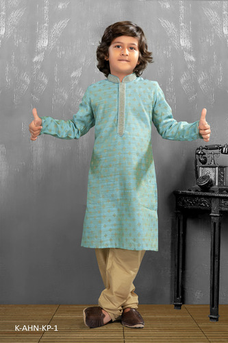 Fashionable Yellow Mens Kurta Pyjama