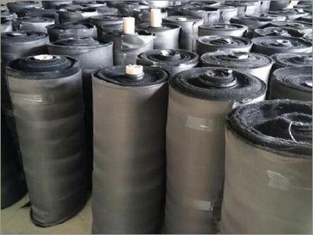 C-glass fiberglass with graphite treated filter media cloth fabric