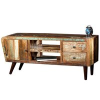 Reclaimed Wood Media Console Unit