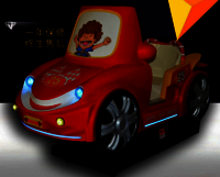 Rocking LCD amusement car