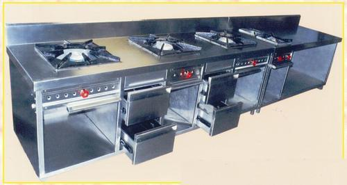 Five Burner with Storage Counter