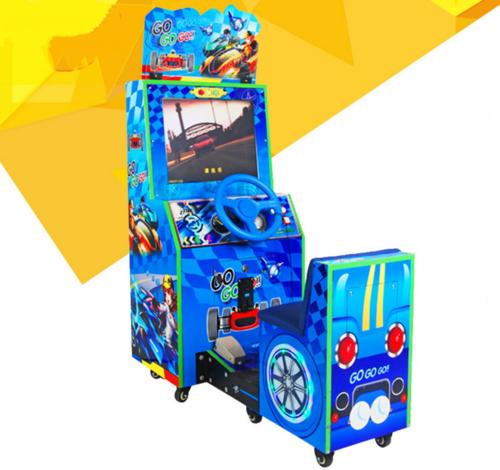 Simulator racing car coin input amusement machine