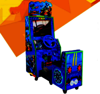 Simulator racing car coin input amusement machine