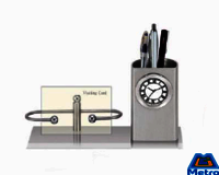 Pen Stand Cum Card Holder Clock