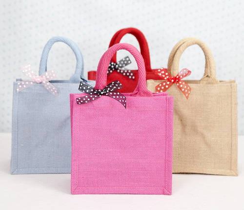 Colored Jute Handbags
