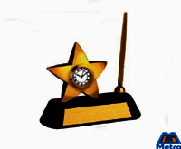 Star Clock with Pen Holder