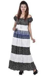 Cotton Ladies Evening Dress