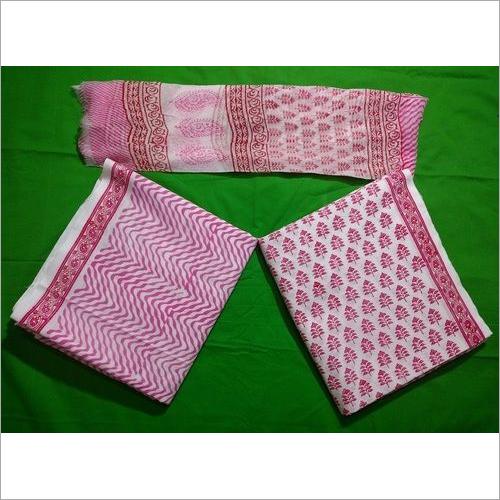 Printed Cotton Suit with chiffon Dupatta