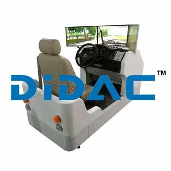 Advanced Car Driving Simulator Three Screens