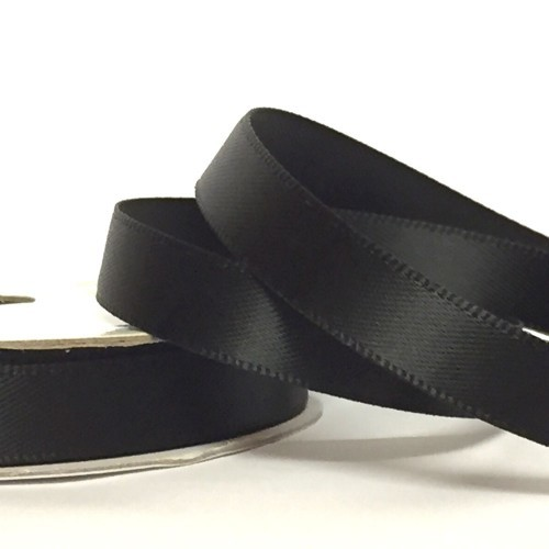 Black Coloured Satin Tape