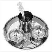 Baby Kitchen Dining Set Stainless Steel Spoon Bowl Glass
