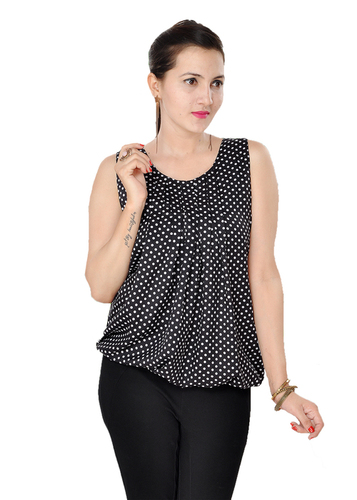 Polka dots tops for womens
