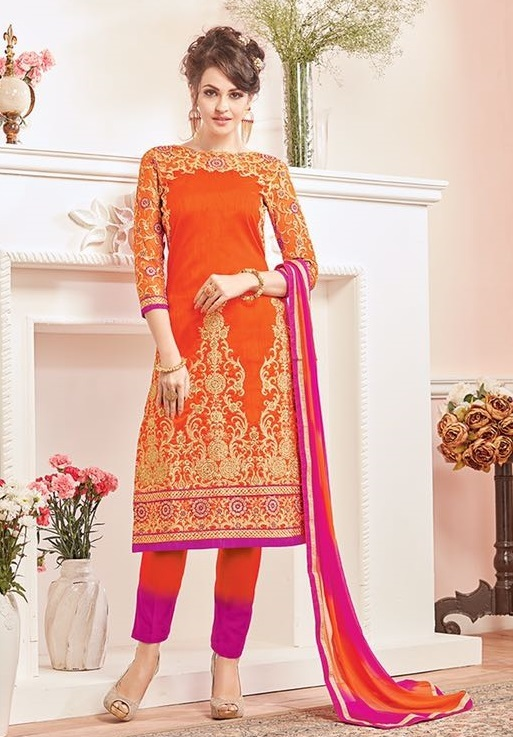 Embroidered heavy salwar suits