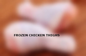 Frozen chicken thighs