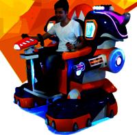 Laser alignment amusement riding machine