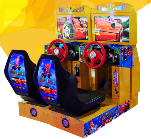 1 Player Speed Up Simulator Racing Game Machine