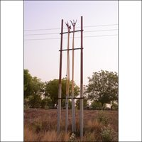 11 Mtr. MS Swagged Tubular Pole 410-SP-55 (as per IS2713)