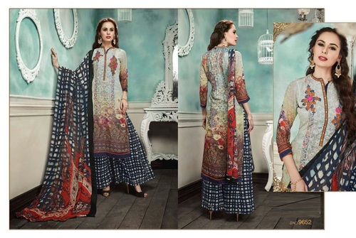 Buy Multicolour Printed Plazzo Suit Online