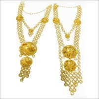 Gold Chain Necklace Set