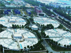 Membrane Structure for Sewage Disposal Plant