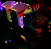 Mini bus rocking kiddy riding game machine 2 players